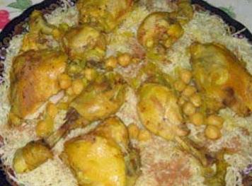 المطبخ الجزائري - وصفة الرشتة بالدجاج