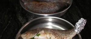 ضعي 3 ملاعق ماء في قعر الوعاء واشوي السمك