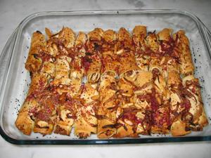 المسخن بالخبز اللبناني
