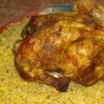 دجاج معمر بالكفتة مع الرز