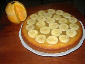 الحلويات المغربية كيكة بعصير الليمون و الموز  بصور