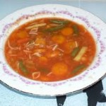 دويدة جارية بالخضرة، حساء المطبخ التونسي
