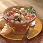 حلالم بالدبابش و الخضرة و اللحم، حساء المطبخ التونسي