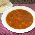 برودو بالخضرة و اللحم، حساء المطبخ التونسي