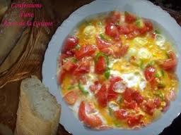 عجة بالفلفل و الطماطم