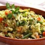 الأرز الجزائري، أرز بالخضر