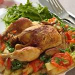 الدواجن التونسية، دجاج في الكوشة مع البطاطا