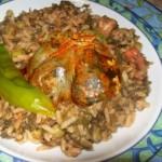 الأرز التونسي، أرز مفور بالعصبان