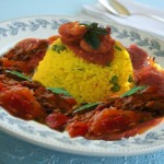 الأرز التونسي، أرز بالجلبانة (بازيلاء)