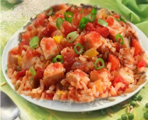 أرز بالصلصة