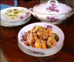 أطباق رمضانية: شربة حلزون، مرقة لحم بالكاري، حلوى بالجبن و القشطة