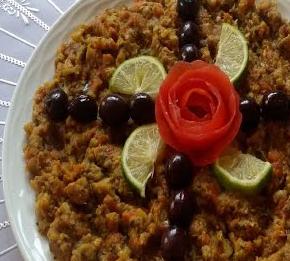 أكلة مغربية، سلطة زعلوك بالقرع  الأخضر