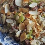 أكلة تونسية، ارز بالفول الأخضر و اللحم