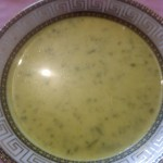 أكلة تونسية،شربة العدس بالسبانخ و الكريمة الطازجة