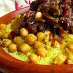 أكلة تونسية، كسكسي حمص و زبيب