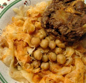 اكلة جزائرية، شخشوقة بالرقاق